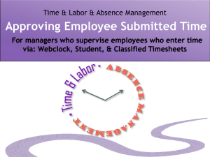 Time Approval Powerpoint