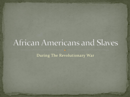 African Americans and Slaves PowerPoint