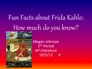 Fun Facts about Frida Kahlo