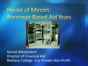 Borrower Based Aid Years
