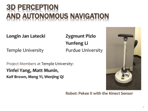 Robot Perception - Temple University