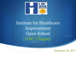 File - Institute for Healthcare Improvement
