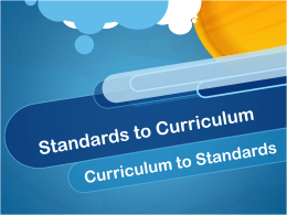 Standards and Curriculum (PPT)