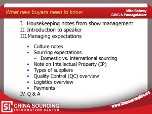 What New Buyers Need to Know - China Sourcing Information Center