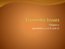 Economic Issues Chapter 11