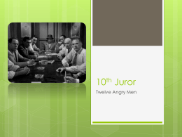 10th Juror - SASC Year 12 EAL 2013