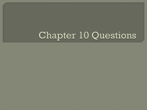 Ch. 10 questions/assignments