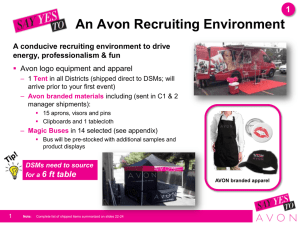 An Avon Recruiting Environment