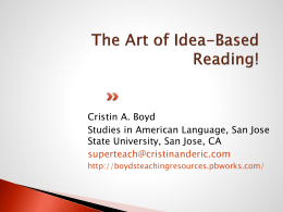 ideabasedreading - boydsteachingresources