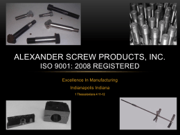 here - Alexander Screw Products, Inc.
