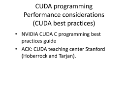 CUDA programming 3 - FSU Computer Science
