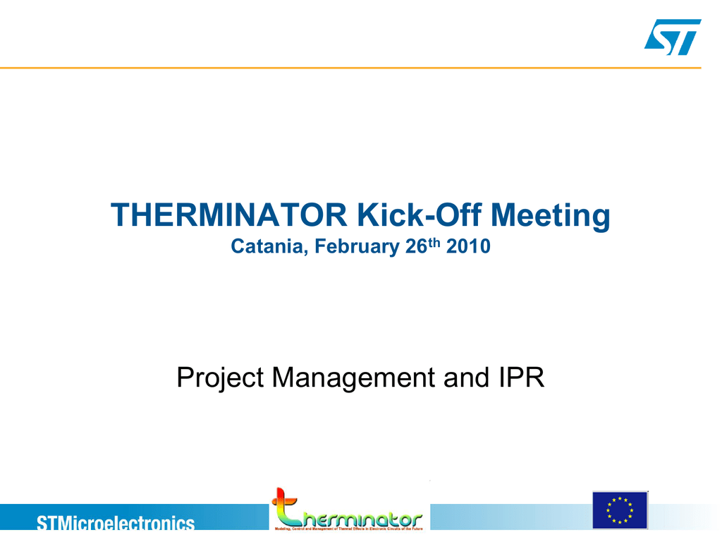 Project Management and IPR - Giuliana Gangemi - ST