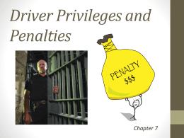 Chapter 7 Driver Privileges and Penalties