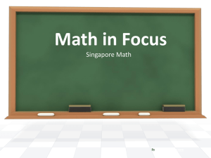 Math in Focus Powerpoint