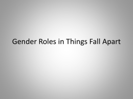 Gender Roles in Things Fall Apart