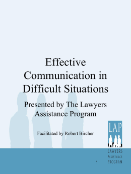 Effective Communication in Difficult Situations