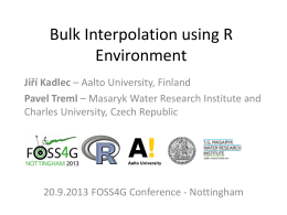 Bulk Interpolation using R Environment