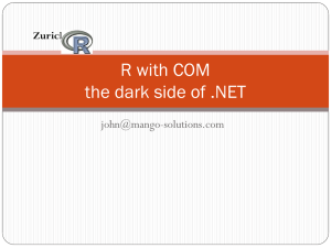 R with COM the dark side of .NET