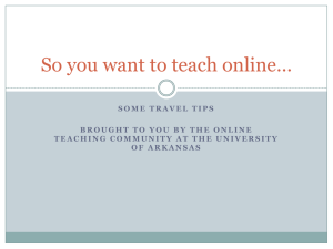 So you want to teach online* - Global Campus
