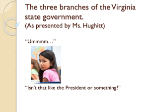 Ms. Hughitt`s 3 Branches of VA