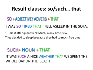Result clauses: so/such* that - TEC English class Yellow & White