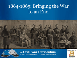 Bringing the War to an End PPT