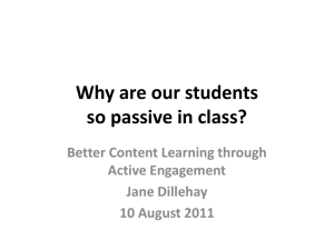 Why are our students so passive in class?