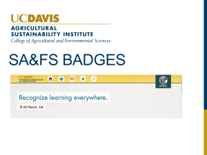 Badge-focused UCD Badges Presentation
