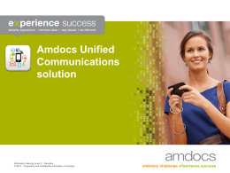 Amdocs Unified Communications solution