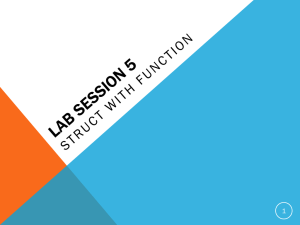 lab session 5(Struct with function)