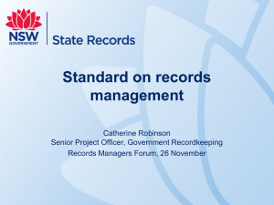 New Standard on records management