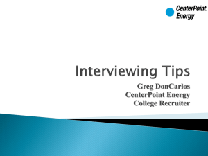 Interview Tips Presentation