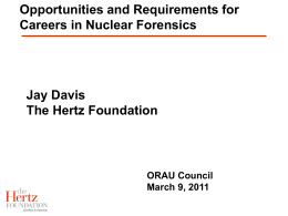 Opportunities and Requirements for Careers in Nuclear
