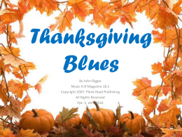 Thanksgiving Blues - Bulletin Boards for the Music Classroom