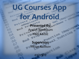 Why UG Courses App?