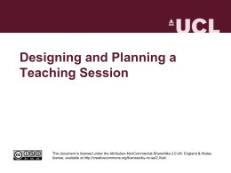 CPD4HE - Designing and Planning Teaching