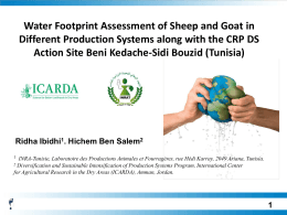 Water Footprint Assessment of Sheep and Goat in Different