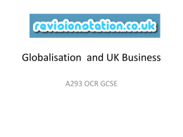 Globalisation and UK Business