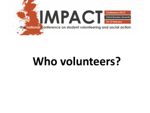 Who volunteers? - The Impact Network