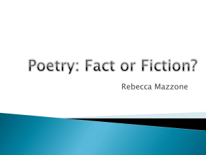 Poetry: Fact or Fiction?