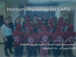 Physiology (or CAPS) Presentation