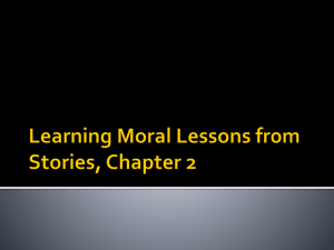 Learning Moral Lessons from Stories , Chapter 2 Where do we learn