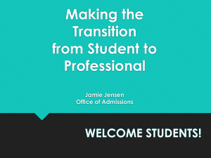 Making the transition from Student to professional