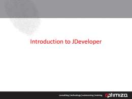 Introduction to JDeveloper