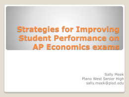 Strategies for Improving Student Performance on AP