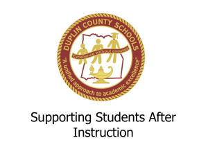 Supporting Students After Instruction