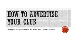 How to Advertise Your Club Events