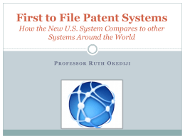 First to File Patent Systems