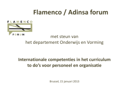 Formal curriculum - Flanders Knowledge Area
