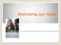 PowerPoint Presentation - Christian Life Community A